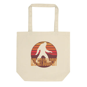 Lets Get Squatchy Vintage Retro Graphic Logo graphic Eco Tote Bag