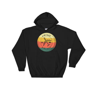 Vintage Airlines EST 1903 Retro Airplane Pilot Graphic design Unisex Hooded Sweatshirt