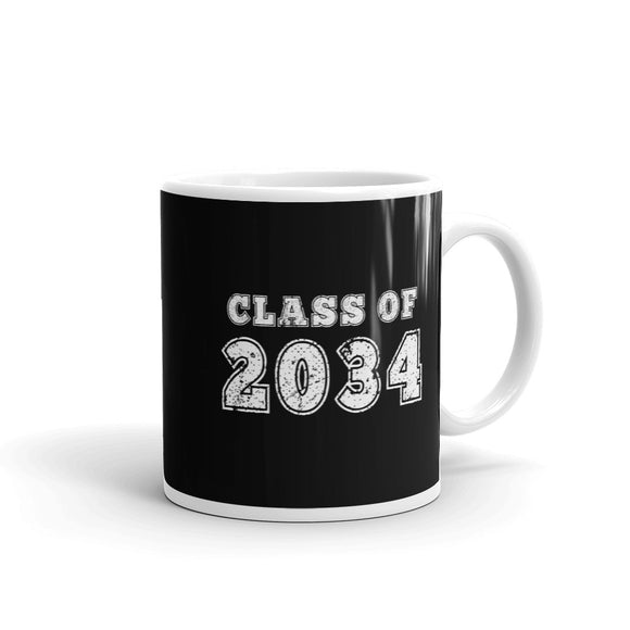 Class of 2034 Distressed Back To School design Mug