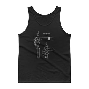 Vintage Railroad Semaphore Signal Drawing Patent Model Train Tank top