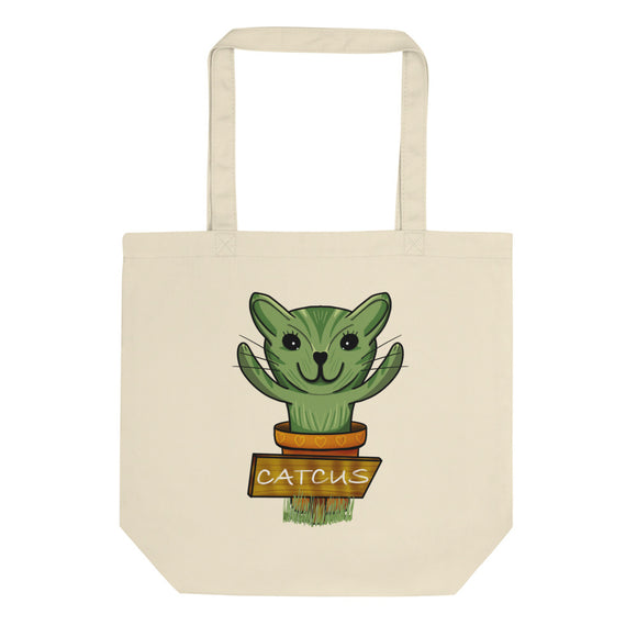 Catcus Cat Cactus design Eco Tote Bag