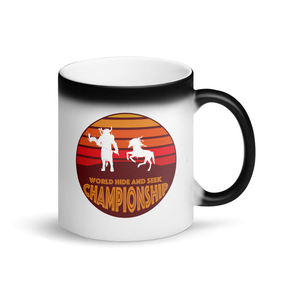Unicorn Minotaur World Hide and Seek Championship Matte Black Magic Mug