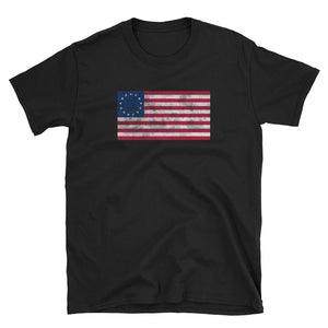 Distressed Betsy Ross American Flag graphic Short-Sleeve Unisex T-Shirt