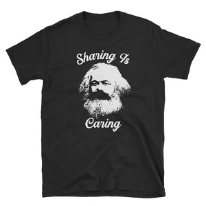 Sharing Is Caring Karl Marx Socialist Graphic design T-shirt