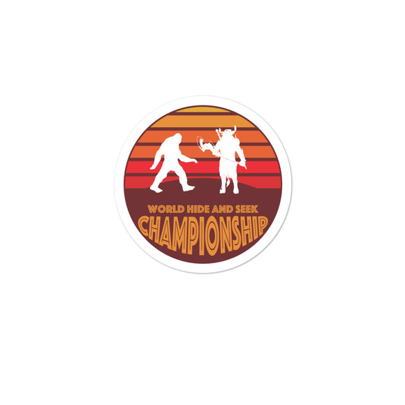 Bigfoot vs Minotaur World Hide and Seek Championship Bubble-free stickers