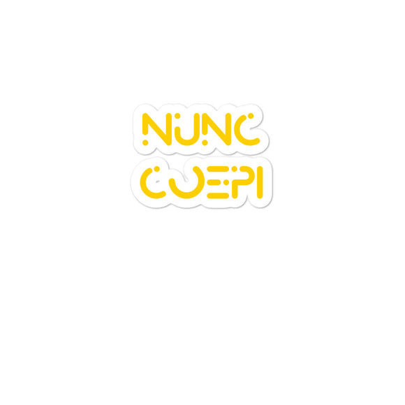 Nunc Coepi Motivational design Bubble-free stickers