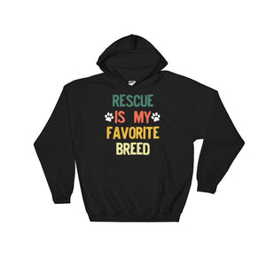 Rescued Dog Rescue Is My Favorite Breed Vintage Retro Syle product Unisex Hooded Sweatshirt