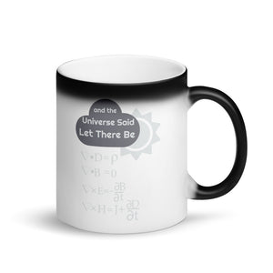Funny Maxwells Equations - Universe Said Let There Be Light Matte Black Magic Mug