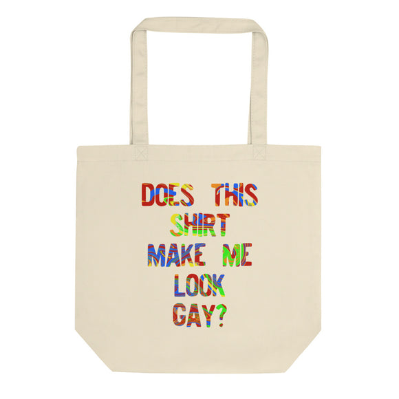 Does This graphic Make Me Look Gay Pride Rainbow Swirl design Eco Tote Bag