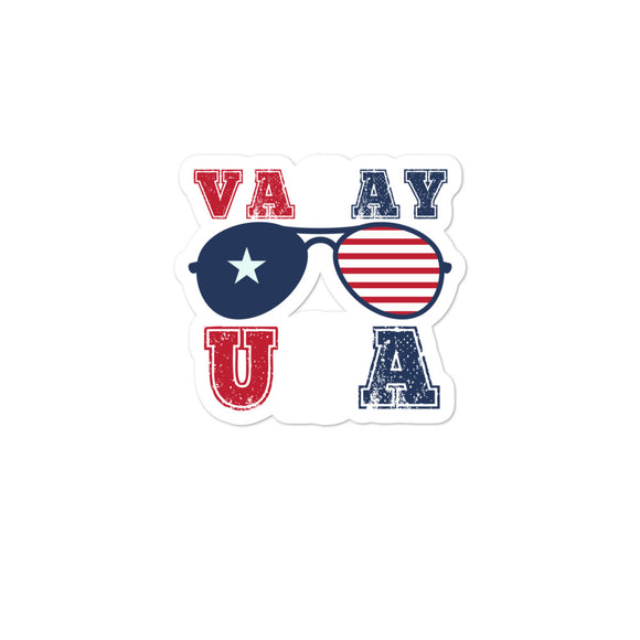 Vacay USA Family Vacation Matching  design Bubble-free stickers