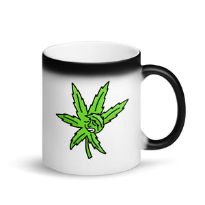 Dabbing Weed Marijuana Leaf Dab Cartoon Graphic product Matte Black Magic Mug