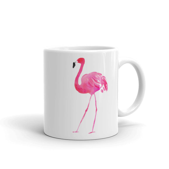 Pink Flamingo Watercolor Graphic design Mug