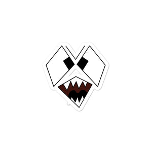 Scary Snarling Angry Monster Face Graphic Illustration  print Bubble-free stickers