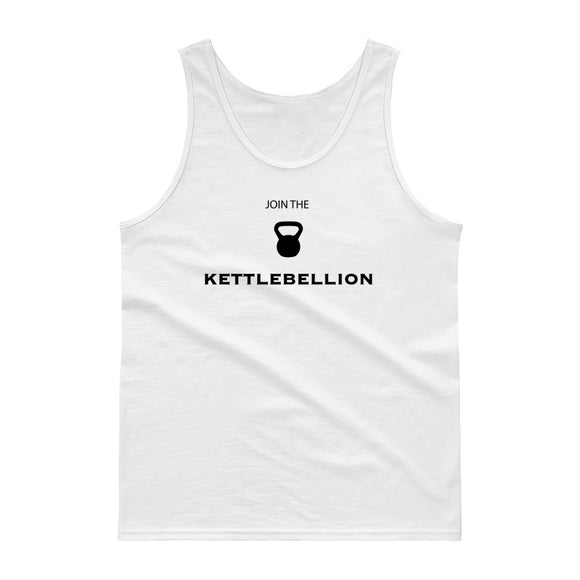 Join The Kettlebell Kettlebellion Gym Work-Out graphic Tank top