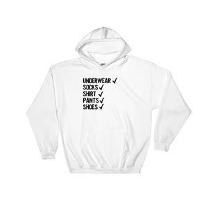 Funny Checklist for Forgetful People Funny Black Text print Unisex Hooded Sweatshirt