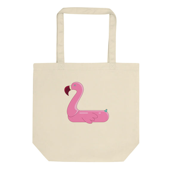 Flamingo Pool Float Toy Graphic product Eco Tote Bag
