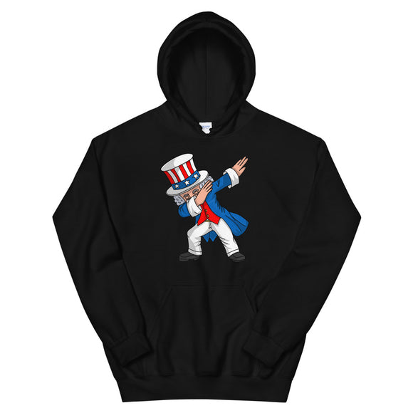4th of July Party design for Kids Boys Men Dabbing Uncle Sam Unisex Hoodie