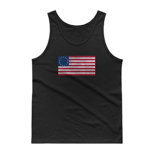 Betsy Ross Flag Distressed Grunge Style design Tank top