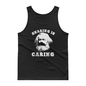 Varsity Style Socialism Karl Marx Sharing is Caring design Tank top
