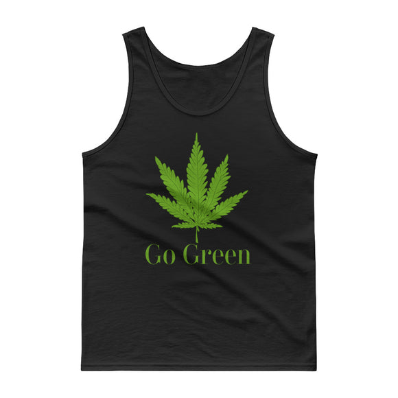 Go Green Marijuana Weed Leaf Graphic product Tank top