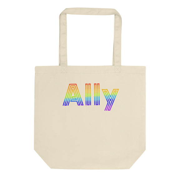 Straight Ally design For LGBT Pride Supporters Eco Tote Bag
