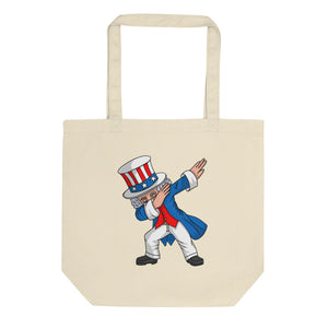 4th of July Party design for Kids Boys Men Dabbing Uncle Sam Eco Tote Bag