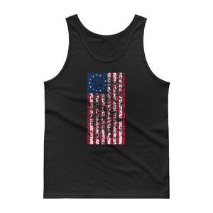 Distressed Grunge Style Vertical Betsy Ross Flag  graphic Tank top
