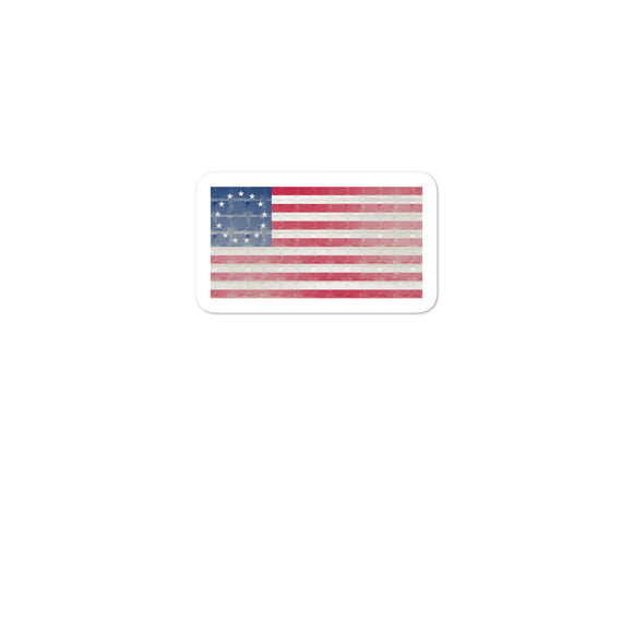 Fenced Wall Betsy Ross Flag design Bubble-free stickers