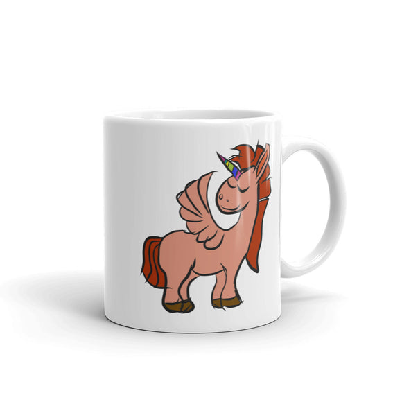 My Shimmering Unicorn Hand Drawn Pegasus Unicorn With Wings Mug
