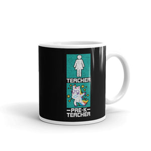 Pre-K Teacher Dabbing Magical Unicorn Preschool Teacher Gift graphic Mug