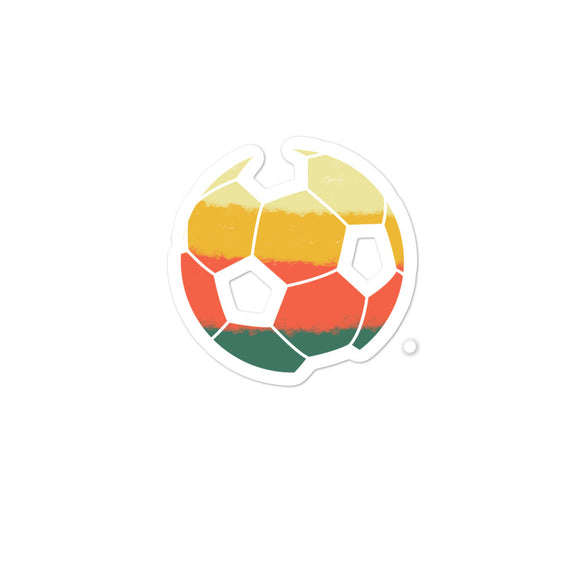 Retro American Soccer Ball Vintage Style print Bubble-free stickers