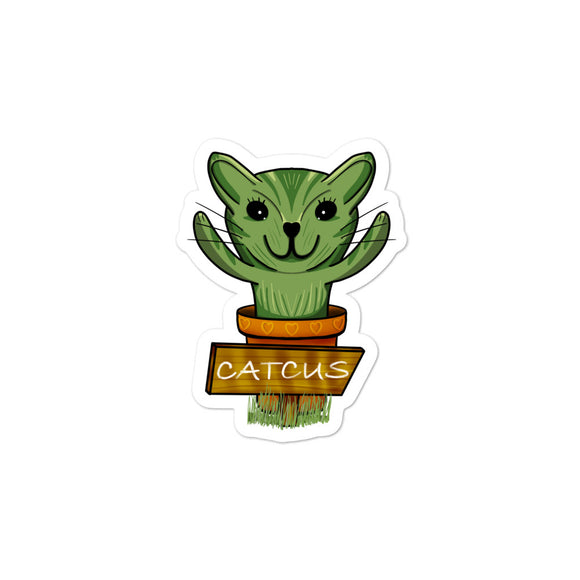 Catcus Cat Cactus design Bubble-free stickers