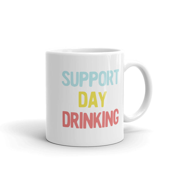 Support Day Drinking Vintage Retro 90s Style Party Design design Mug