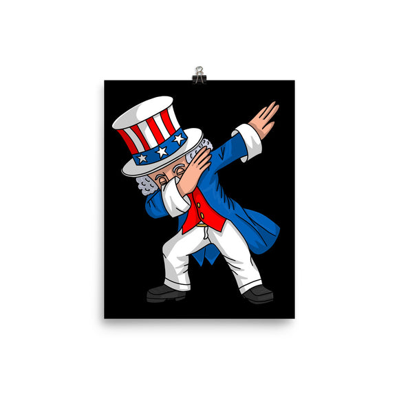 Dabbing Uncle Sam Poster