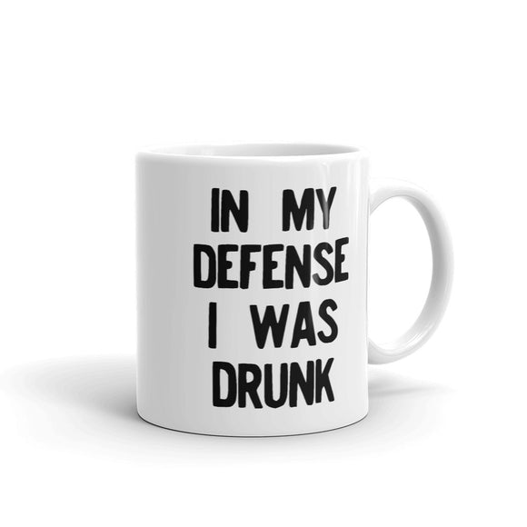 In My Defense I Was Drunk Funny Drinking Regret product Mug