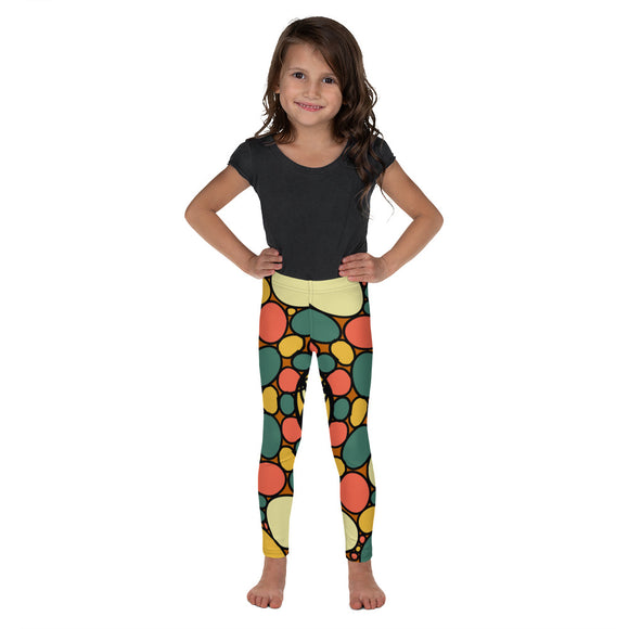 Retro Peace and Tranquility Vintage Zen Stone Garden Kid's Leggings