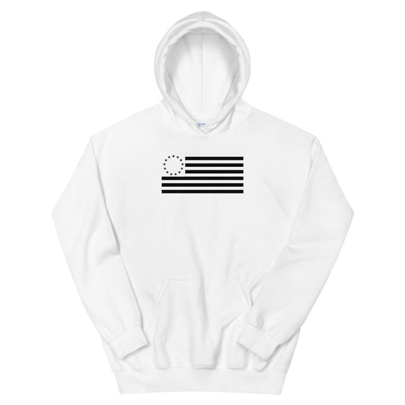 Betsy Ross Flag Black Cool Modern Style graphic Unisex Hoodie