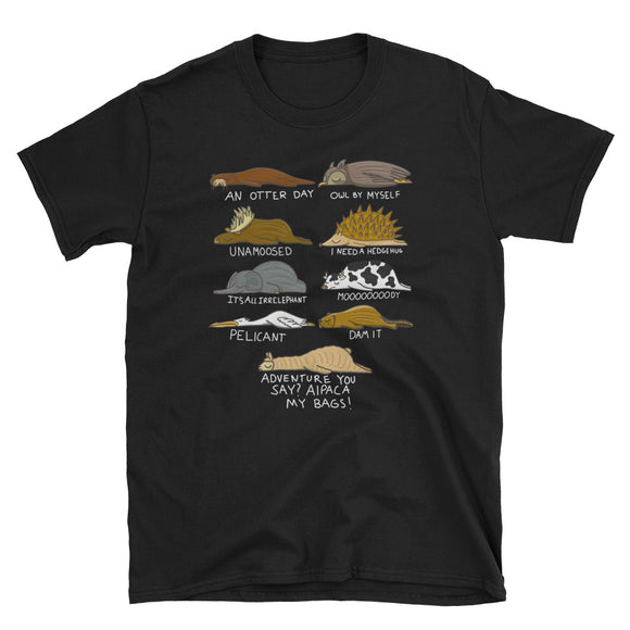 Funny Lazy Animals of The World design Pun Short-Sleeve Unisex T-Shirt