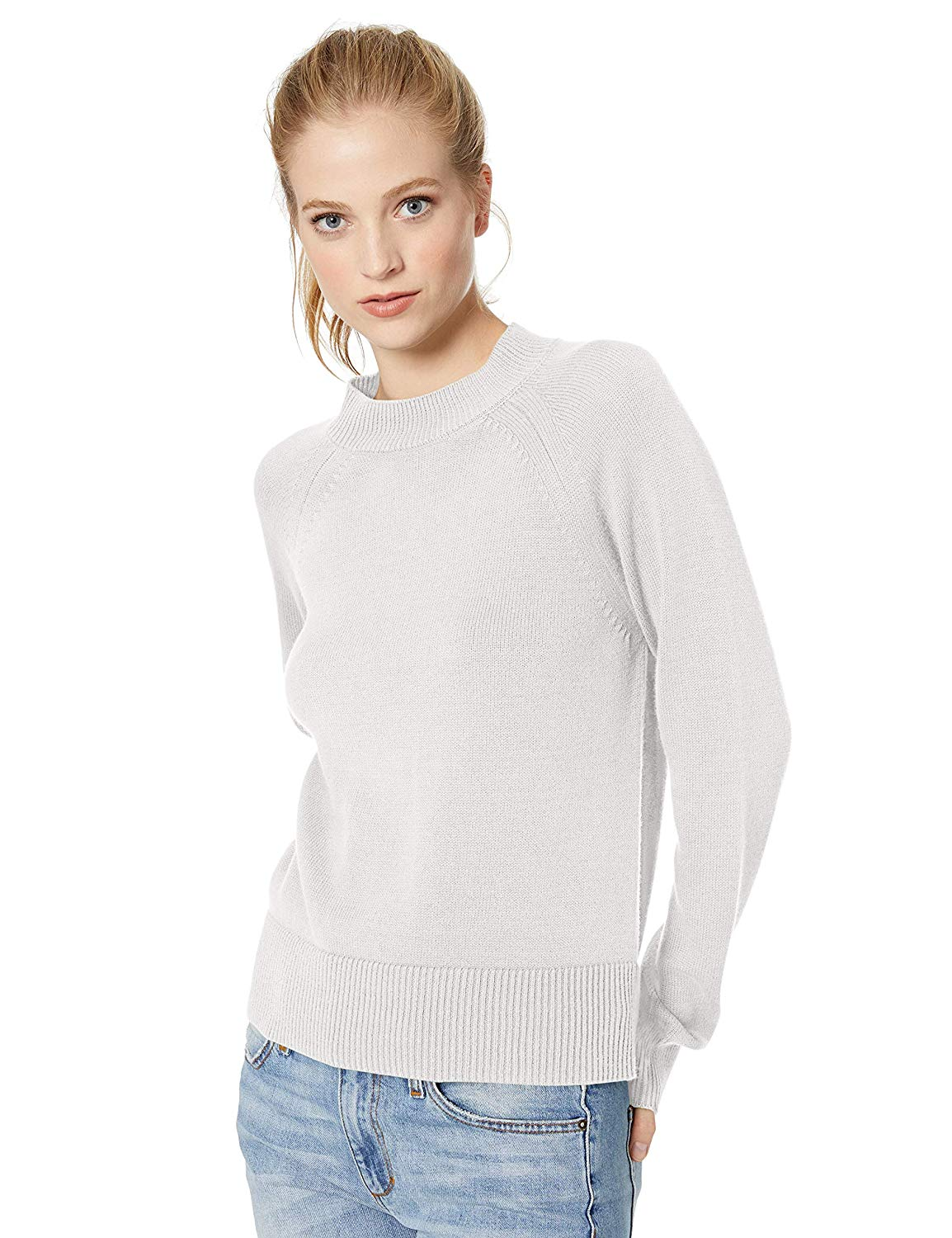 9a07bcd830d Daily Ritual Women s 100% Cotton Mock-Neck Sweater – ProBestGear