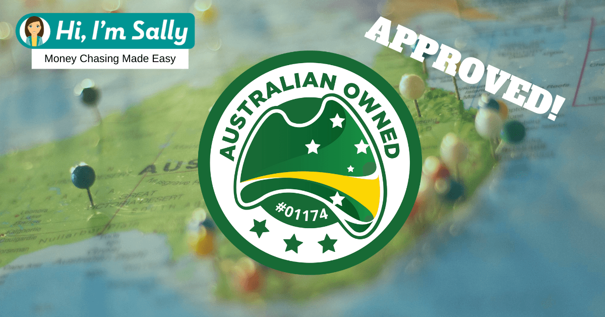 Hi, I'm Sally is proud to be approved as Australian Owned