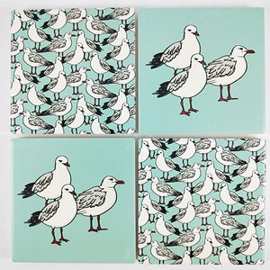 Bird Coasters - Mint
