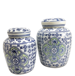 Blue & Green Ginger Jar