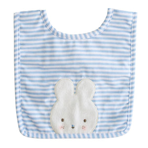 Blue & White Stripe Bunny Bib