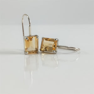 Claudia Classic Petite Citrine Earrings