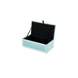 Cyan Glass Jewellery Box - Medium