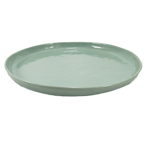 Large Round Plate - Duck egg