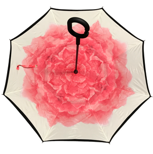 Reverse Umbrella - Pink Rose