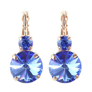 My Treasures Blue Crystal Drop Earrings