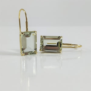 Claudia Classic Green Amethyst Earrings