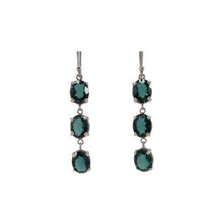 Margot Green Quartz 3 Drop Earrings